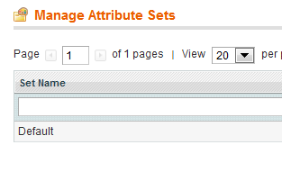 Magento® Attribute sets Default