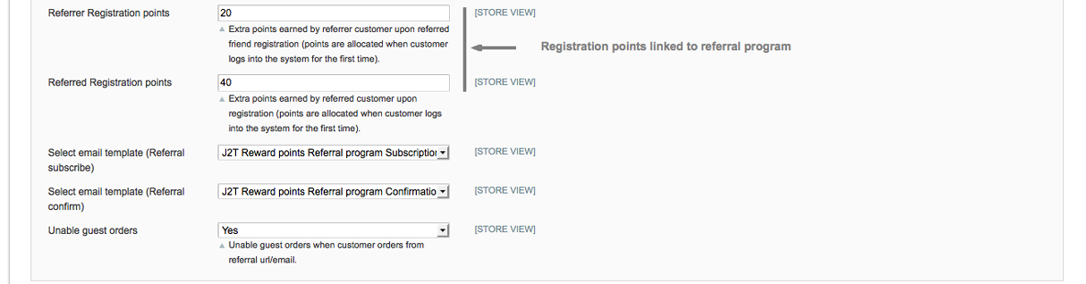 Registration and referral points - screen 3