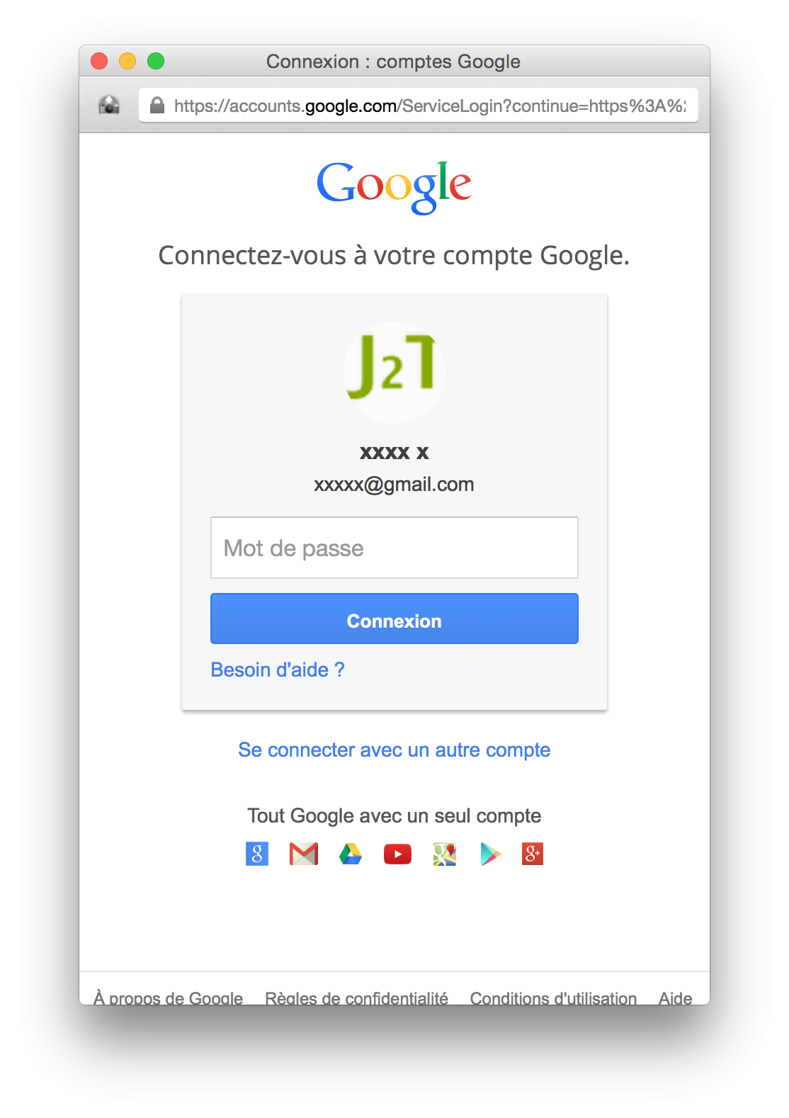 Google Plus sigin in window