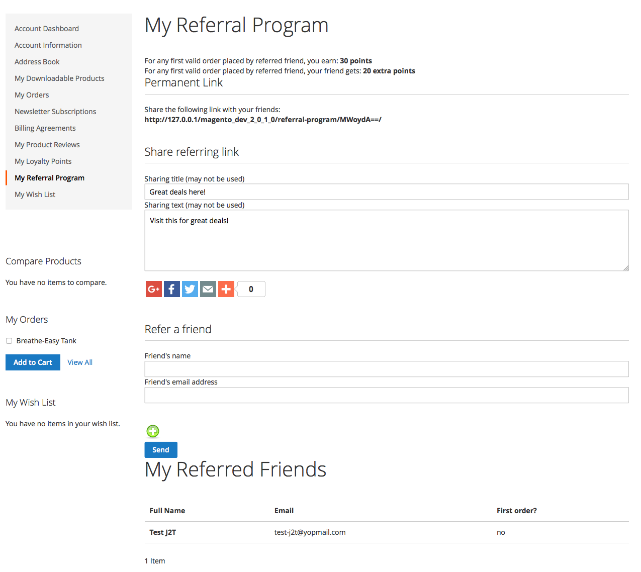 Refer-A-Friend And Earn Points