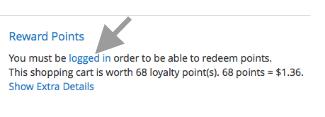 Customer login access through cart page